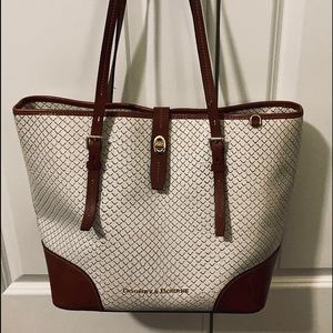 Dooney and Bourke large white tote
